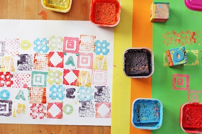 diy rubber stamps for kids