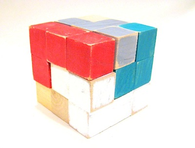 homemade wood puzzle cube diy