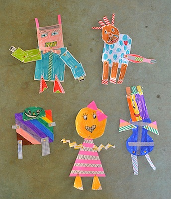 easy and free kids craft paper robots