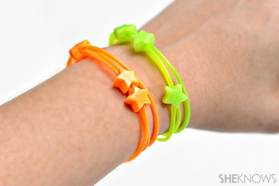 neon friendship bracelets for back to school