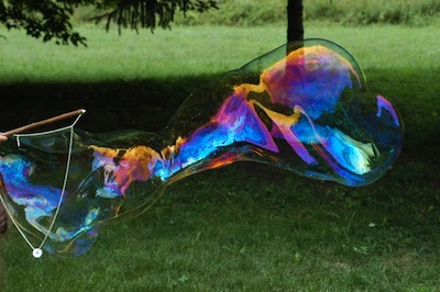 Clean diy giant bubble wand