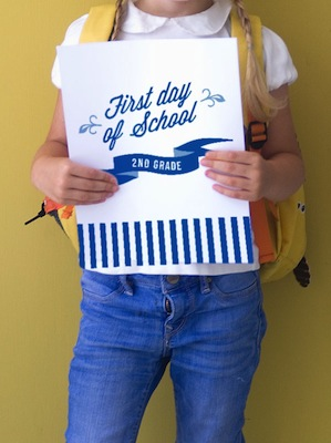 first day of school printable sign for pictures