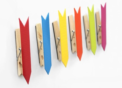 duct tape arrow magnets back to school craft