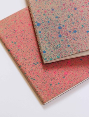 paint splattered notebooks diy