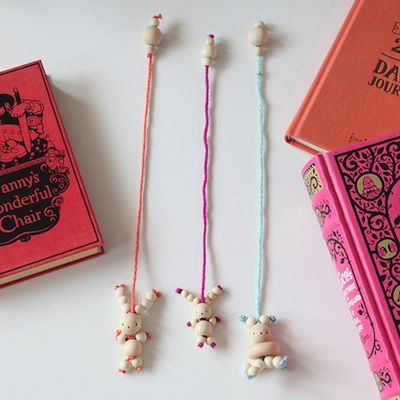 Small For Big bead bunny bookmarks crafts for kids