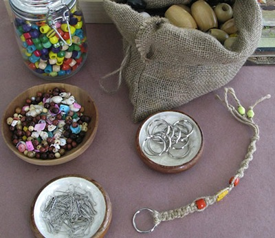 macrame key fob kids craft diy