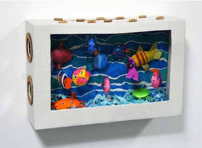 Cardboard Box Aquarium Things To Make And Do Crafts And