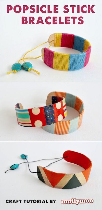 popsicle stick bracelets easy craft for kids