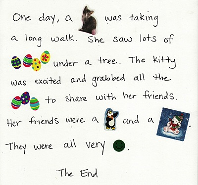 use stickers to write a story