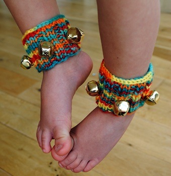 knit ankle bells