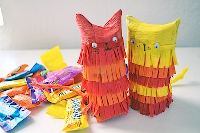 toilet paper tube craft kitty pinata