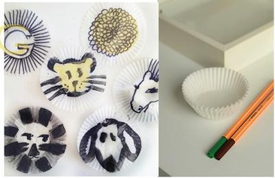 cupcake liner art