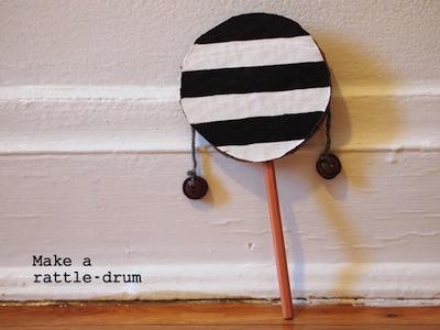 make a rattle drum