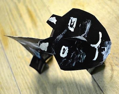 index card wild animal kids craft