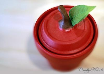 clay pot apple jar
