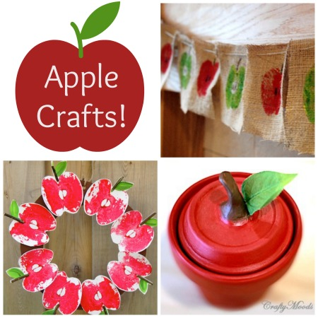 The Crafty Crow apple crafts for Pinterest