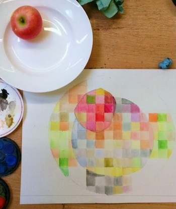 teaching color theory art lesson
