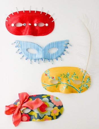 easy diy custom mask made from plain masquerade mask
