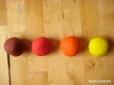 fall scented playdough recipe