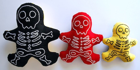skeleton softies to make for Halloween