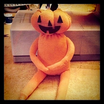 pumpkin head sock doll tutorial