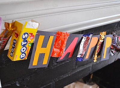 Art Bar candy wrapper halloween banner halloween decoration idea