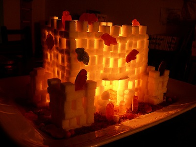 spooky sugar cube castle Halloween decoration