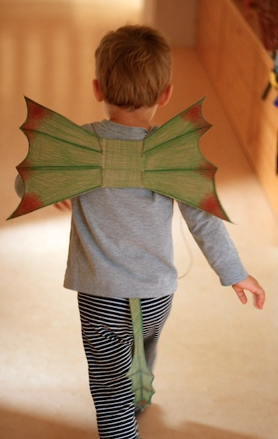 cereal box cardboard dragon wings