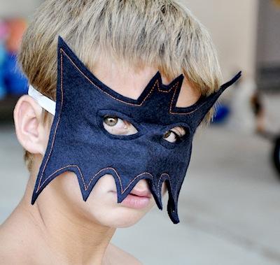 felt sewn bat mask