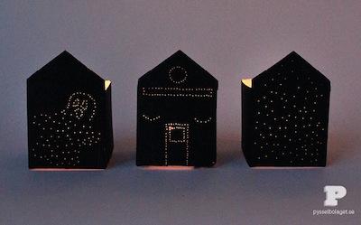 halloween houses from milk cartons - Halloween Cartons