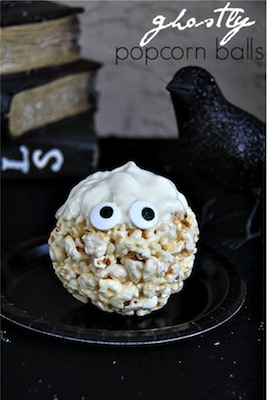 ghost popcorn balls halloween party food