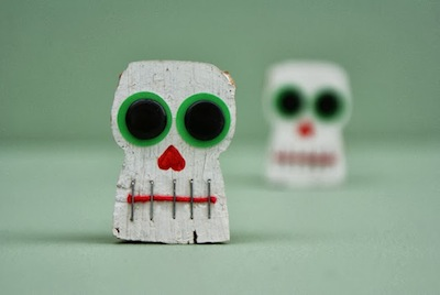 day of the dead cork calavera skeletons craft