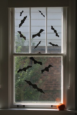 diy bat window clings