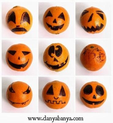 orange faces for Halloween