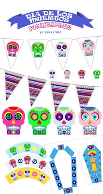 dia de los muertos printables for party