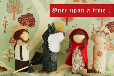 little red riding character peg dolls diy