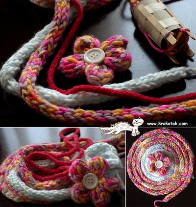 i cord knitting knobby crafting