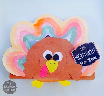 turkey chocolate bar wrapper craft