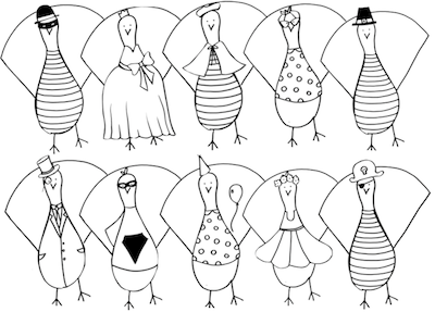 turkey paper doll printable