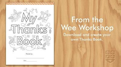 free thanks book printable for thanksgiving