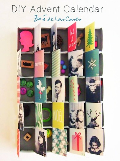 diy advent calendar by Zoe de Las Cases