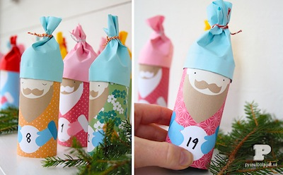 toilet paper roll santa advent