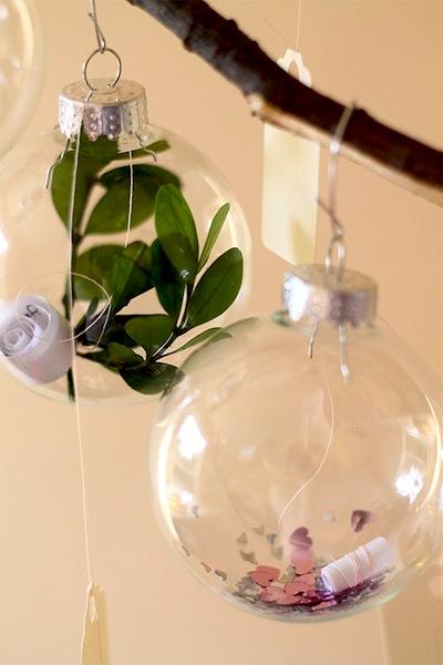 message in an ornament advent calendar diy idea