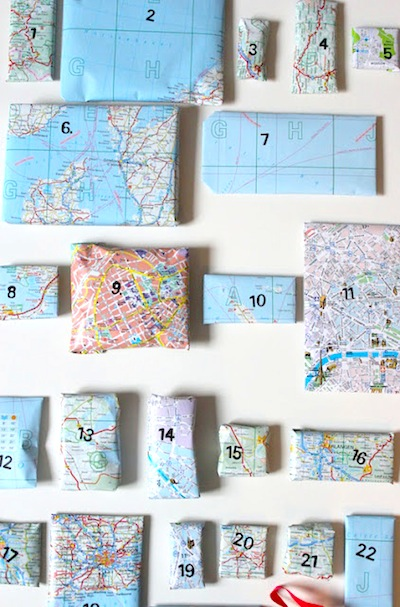 advent calendar with maps