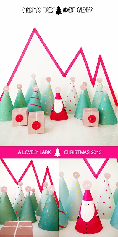 christmas advent calendar with free printable