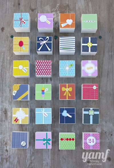 diy advent calendar free printable boxes