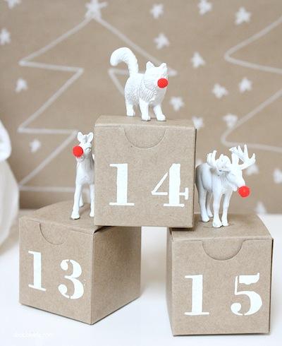 diy advent calendar in boxes