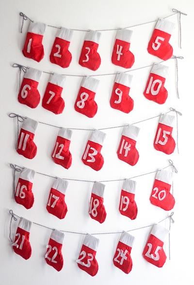 stocking garland advent calendar