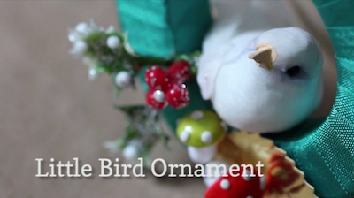 A Very Merry Advent bird wreath ornament video screenshot