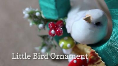 A Very Merry Advent bird wreath ornament video screenshot
